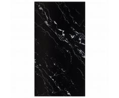 vidaXL Tablero mesa rectangular vidrio textura mármol negro 120x65 cm