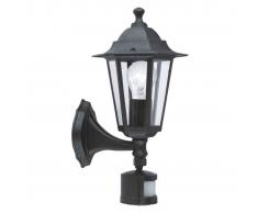 EGLO Lámpara de pared exterior con sensor Laterna 4 60 W negra 22469