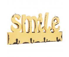 vidaXL Perchero de pared SMILE 50x23 cm