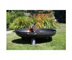 RedFire Chimenea de cuenco Salo acero 80 cm negra 81020