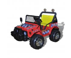 vidaXL Coche de paseo eléctrico juguete 2 niños rojo