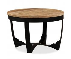 vidaXL Mesa auxiliar de madera maciza áspera de mango 60x40 cm