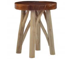 vidaXL Taburete de madera de teca marrón