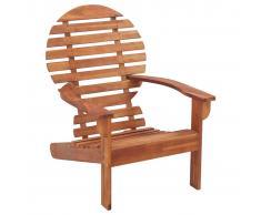 vidaXL Silla Adirondack de madera maciza de acacia