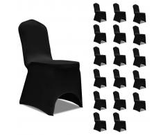 vidaXL Funda de silla elástica 18 unidades negro