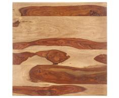 vidaXL Superficie de mesa madera maciza de sheesham 25-27 mm 70x70 cm