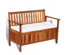 vidaXL banco de almacenamiento de madera de acacia