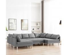 vidaXL Sofá modular de tela gris claro
