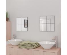 vidaXL Azulejos de espejo sin marco vidrio 20,5 cm 16 unidades