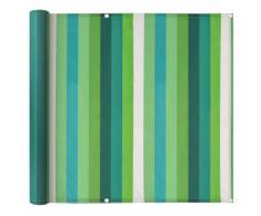 vidaXL Toldo para balcón de tela oxford 90x400 cm a rayas verde