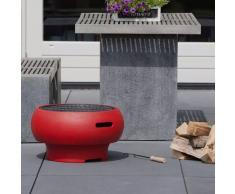 BBGRILL Barbacoa portátil roja BBQ TUB-R