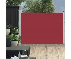 vidaXL Toldo lateral retráctil de jardín rojo 120x500 cm
