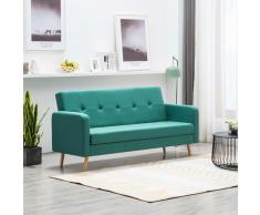 vidaXL Sofá de tela verde
