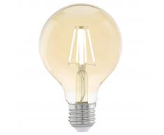 EGLO Bombilla LED de estilo vintage E27 G80 11556, Color ámbar