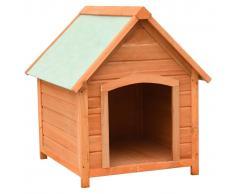 vidaXL Caseta para perros madera maciza de pino y abeto 72x85x82 cm