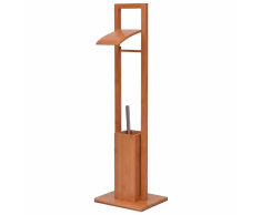 vidaXL Portaescobillas/portarrollos para baño 20x24,5x81,5 cm bambú