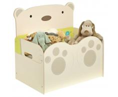 Worlds Apart Caja para juguetes Bear Hug 60x40x57 cm beige WORL230012