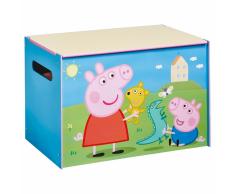 Peppa Pig Caja de juguetes 60x40x40 cm azul madera WORL213011