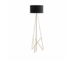 EGLO Lámpara de pie CAMPORALE cobre y negro 154 cm 39229