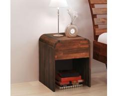 vidaXL Mesita de noche 41,5x42x52 cm madera maciza acacia