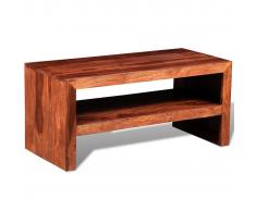 vidaXL Mesa soporte para TV / auxiliar de madera maciza Sheesham