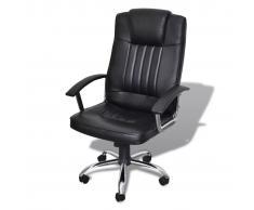 vidaXL Silla de oficina de lujo diseño de calidad negra 65 x 66 x 107-117 cm