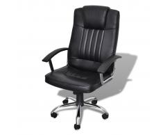 vidaXL Silla de oficina lujo diseño calidad negra 65 x 66 107-117 cm