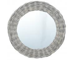 vidaXL Espejo de mimbre 60 cm
