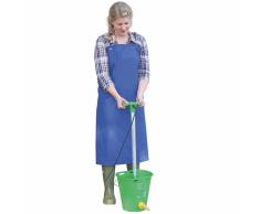 Kerbl Delantal para ordeñar y lavar PU 125x100 cm azul 15288