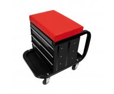 ProPlus Carro para el taller con asiento y cajones, 580526