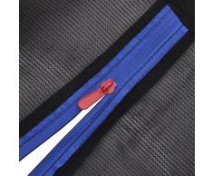 vidaXL Red de seguridad para cama elástica redonda 3,05m negra PE
