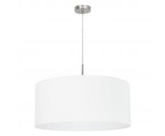 EGLO Lámpara colgante de techo, redonda Pasteri 31575, Blanco