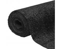 vidaXL Césped artificial 1x20 m / 7-9 mm negro