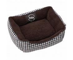 D&D Cojín cama para mascota Sweet Checker 60x50x20 cm 671/438084