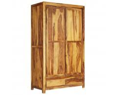 vidaXL Armario de madera maciza de Sheesham 110x55x190 cm