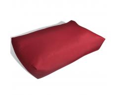 vidaXL Cojín Tapizado De Asiento 80 x 40 20 cm Rojo Vino