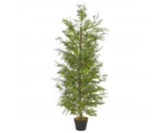 vidaXL Planta artificial árbol ciprés con macetero 150 cm verde