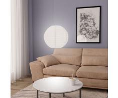vidaXL Lámpara colgante blanca E27 Ø45 cm