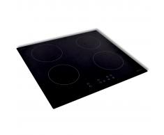 vidaXL Placa de inducción de vidrio 50340 con 4 quemadores