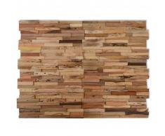 vidaXL Paneles de revestimiento de pared 10 uds 1 m² de teca reciclada