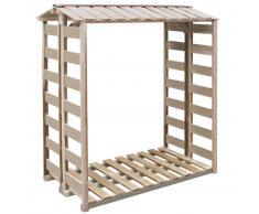 vidaXL Caseta para leña 150x100x176 cm madera de pino impregnada FSC
