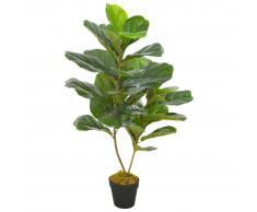 vidaXL Planta artificial ficus con macetero 90 cm verde