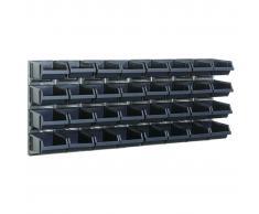 Raaco Estante de pared x2 con 32 contenedores 181211 de
