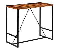 vidaXL Mesa de bar de madera maciza reciclada 120x60x106 cm