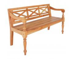 vidaXL Banco Batavia madera de caoba marrón claro 136 cm