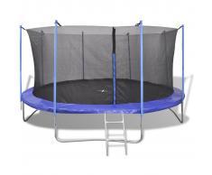 vidaXL Set de cama elástica de 5 piezas 3,66 m
