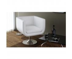 vidaXL Sillón moderno y ajustable en forma de cubo blanco cromado