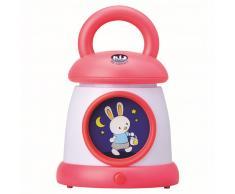 Claessens'Kids Linterna/lámpara de noche Kid Sleep roja 0022