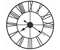 vidaXL Reloj de pared vintage movimiento cuarzo metal 80 cm XXL