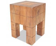 vidaXL Taburete de madera maciza reciclada 28x28x40 cm